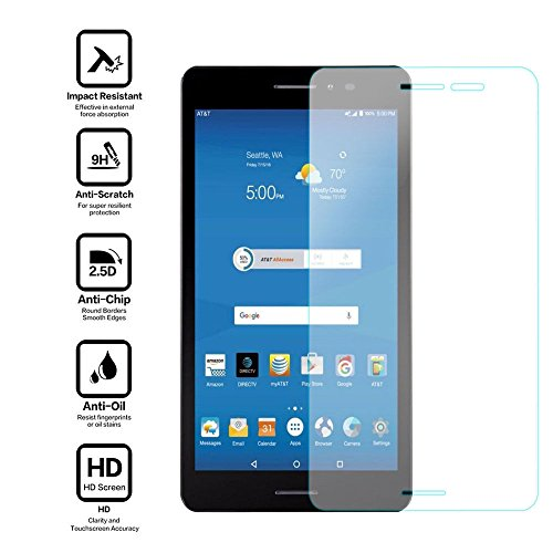 NiceTQ Tempered Glass HD Clear Protective Screen Protector Guard Film For ZTE K88 AT&T Trek 2 8'' HD 16GB Wifi 4G-LTE Android Tablet by NiceTQ