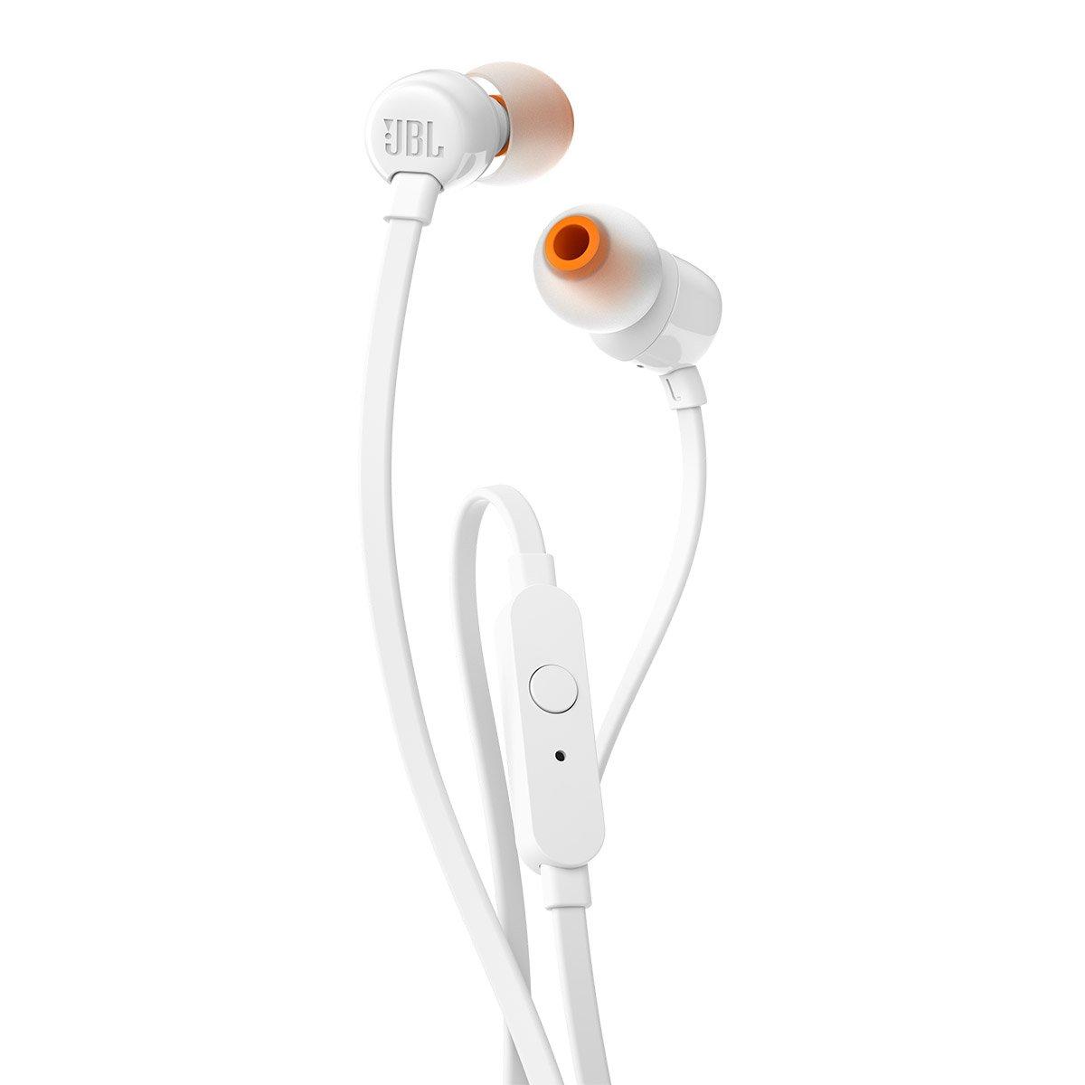 JBL T110 - Auriculares intraaurales con micrófono, Color Blanco: Amazon.es: Electrónica