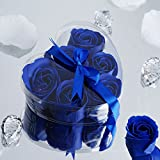 royal blue centerpieces - BalsaCircle 50 Royal Blue Cute Favor Heart Gift Boxes with 6 Rose Petal Soaps for Wedding Party Birthday Gifts Decorations Supplies