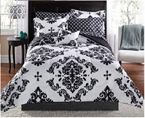 Mainstay* Classic Noir Bed In A Bag Bedding Set in Black in Twin/Twin XL