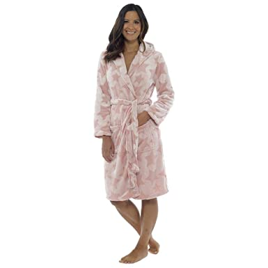 a645a4af96 Daisy Dreamer Women s Star Fleece Hooded Dressing Gown