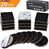Best Furniture Pads for Hardwood Floors Non Slip Furniture Pads 20 Pieces 2