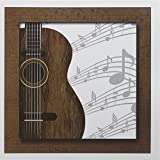 "3dRose Guitar Music Concept - Greeting Cards, 6 x 6"", Set of 12 (gc_149974_2)"