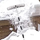 6.4m Snow Roof Rake, Adjustable Snow Shovel with 63 * 15cm Poly Blade, Roof Snow Removal Tool