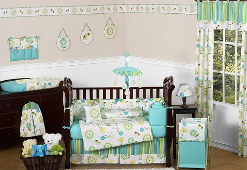 Baby/Kids Clothes Laundry Hamper for Sweet Jojo Designs for Turquoise and Lime Layla Bedding