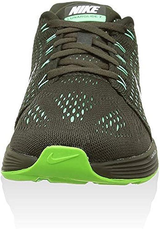 Nike Womens Wmns Lunarglide 7, SEQUOIA/WHITE-GREEN GLOW, 5 M US ...