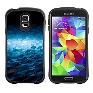 Be-Star Impreso Colorido Diseño Antichoque Caso Del iFace Primera Clase Tpu Carcasa Funda Case Cubierta Par Samsung Galaxy S5 SM-G900 ( Triangular Black Hole Pattern )