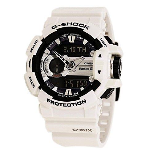 Casio G'Mix Digital Analog Dial White Resin Quartz Men's Watch GBA400-7C