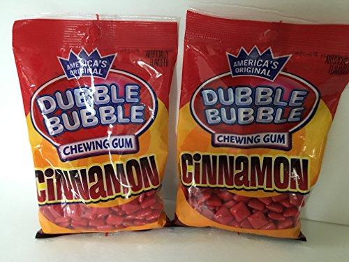 Dubble Bubble Cinnamon Chewing Gum 4 Oz Bag (Pack of 2 - 8 Ounces Total)