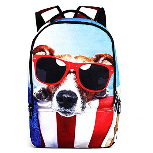 Tendance Dunland animale en étoile plein à sports backpack sac air de sac dos sac chat dos voyage à en livre Multicolore3 de PWW8xzr