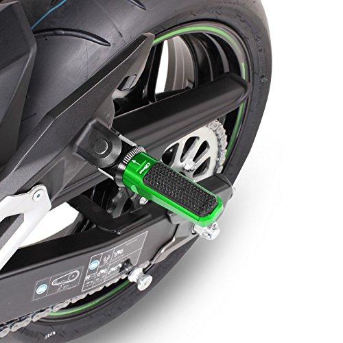 Repose pieds Set Alu arri/ère pour Honda Hornet 600 07-13 Puig Racing vert