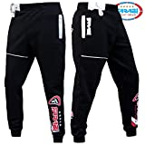 Farabi Fleece Bottom Trouser Jogging Sports Casual Pants Training Black (3XS)