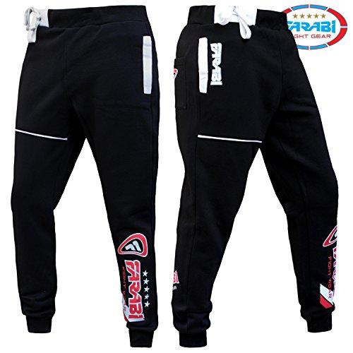 Farabi Fleece Bottom Trouser Jogging Sports Casual Pants Training Black (3XS) by Farabi