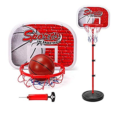 zhenleisier Adjustable Height Basketball Hoop Stand Indoor Family Game Interactive Development Educational Kids Toy Gift 1.5M: Home & Kitchen