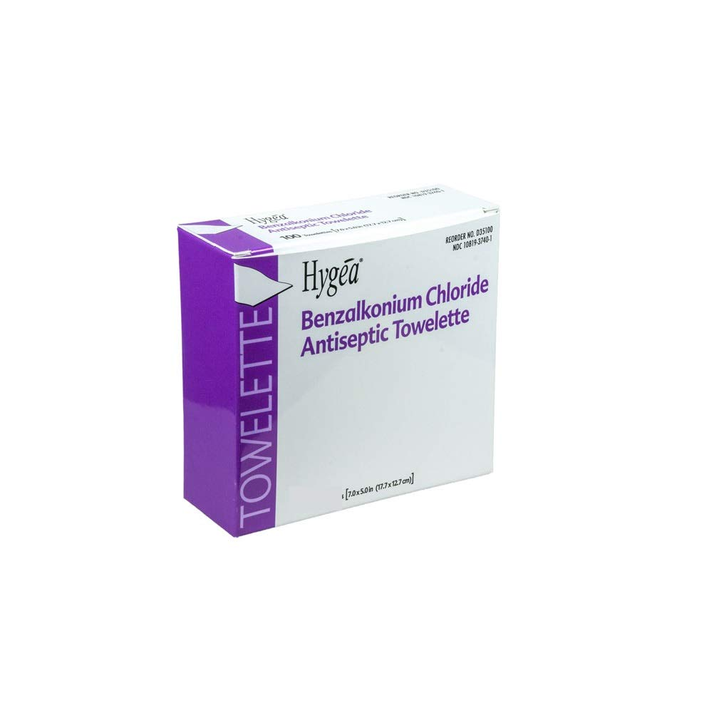 PDI D74800 Hygea Obstetrical Towelette, Case, 10 Boxes, 1000 Towelettes, by PDI Healthcare