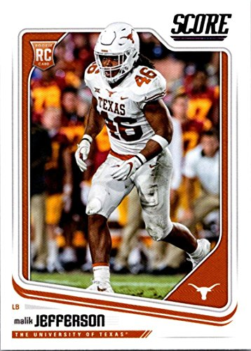 2018 Score #343 Malik Jefferson Texas Longhorns Rookie RC Football Card