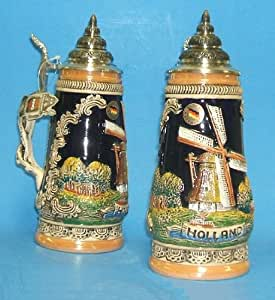 Holland Dutch Windmill German Beer Stein .5L Made in Germany