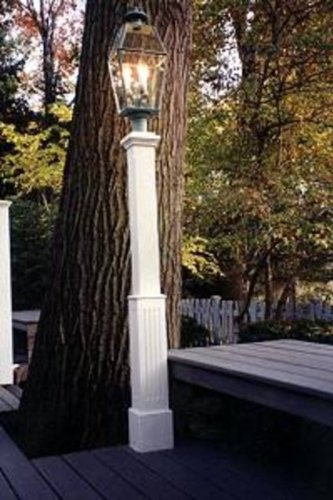 New England Woodworks FTLP Finial Top Lantern Post w. Fluted ()
