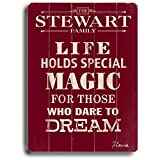Life Holds Special Magic (Personalized) 25''x34'' Planked Wood Sign Wall Decor Art