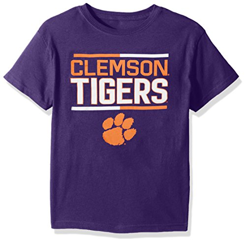 Football Tigers Runner (NCAA Clemson Tigers Toddler Flag Runner Alternate Color Tee, Purple, 2T)