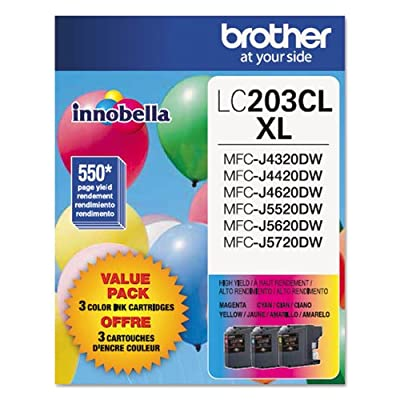 Brother LC203-3PKS Combo Pack Ink High Yield (3x 550 Yield)(C/M/Y)