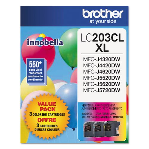 (Brother LC203CL Ink Cartridge - Cyan, Magenta, Yellow - 1)