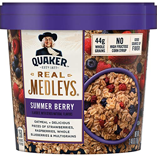 Oatmeal+, Summer Berry, Instant Oatmeal+ Breakfast Cereal, 2.64oz Cup ()
