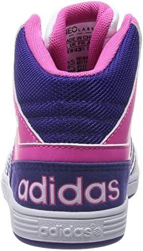 adidas - Hoops Mid K - F76461 - Couleur: Blanc-Rose-Violet - Pointure: 38 2/3 EU