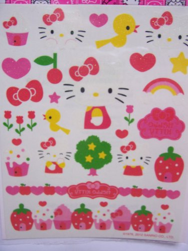 Hello Kitty Glitter Tattoos ~ Happiness & Kitty Fun (25 Tattoos)