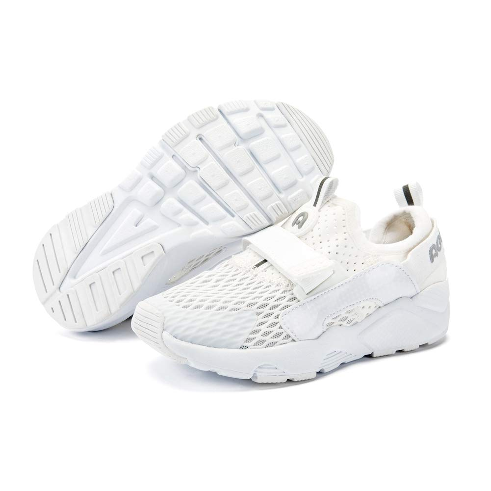 ABC KIDS Sneakers Basic for Boys and Girls, Kids Lightweight Athletic Comfort Mesh Breathable Shoes (White3, 9 M US(Little Kids)) by ABC KIDS (Image #3)
