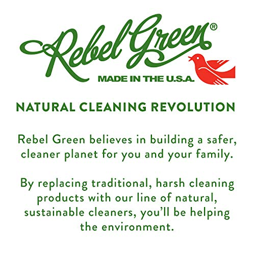 Rebel Green Fruit & Veggie Wash - Natural Produce Wash - Plant-Based Vegetable Wash - Fruit and Vegetable Wash with No Aftertaste - Sustainable Food Wash - (34oz Refill Bottle)