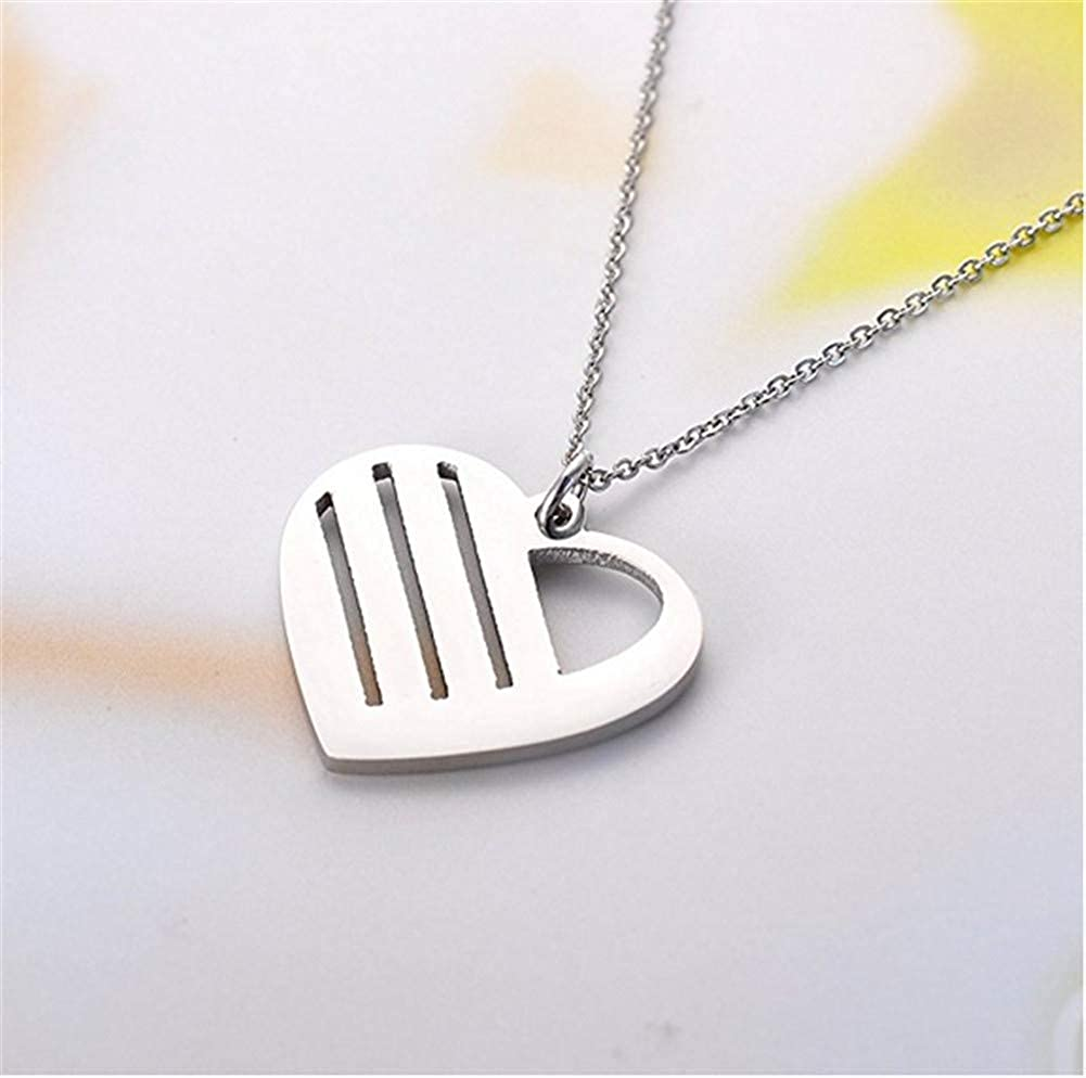 Junmei 925 Sterling Silver Personalized Heart Family Name Necklace with Birthstone Custom Children Names