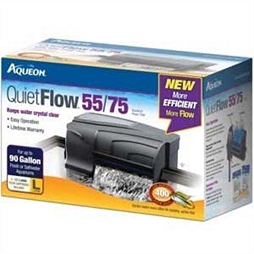 Aquarium Pumps & Filters Aqueon 06079 QuietFlow 55/75 Power Filter, 400-GPH, New, (Fish Tank Sump 100 Gallon compare prices)