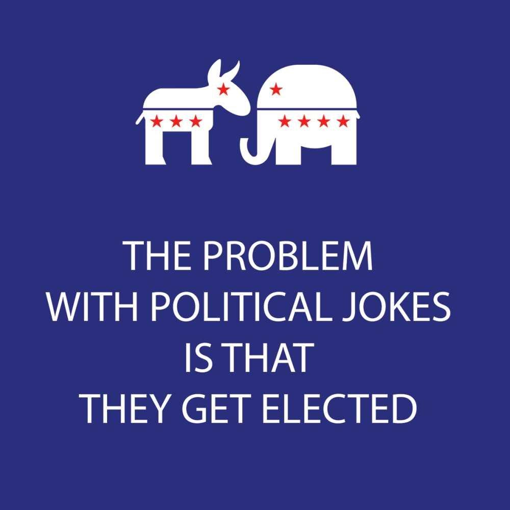 Paperproducts Design ''Political Jokes'' Paper Cocktail/Beverage Napkins, Blue