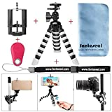 Fantaseal Smartphone Tripod w/Bluetooth RC Remote Control Cellphone Mount Universal Smartphone Tripod Holder Stand DSLR Camera Mini Octopus Tripod Flexible for iPhone Huawei -Rd