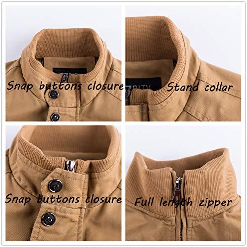 ZooYung Men's Casual Winter Cotton Military Jackets Outdoor Coat windproof windbreaker(2701-Black-M)