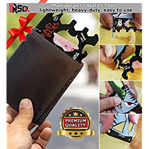 23 in 1 Credit Card Multi Tool Set Gifts for Him. Best Birthday & Valentine's Day Gifts for Men who Have Everything – Coolest Gadgets Regalos para Hombre Multi Tool Card Set – Bad Boy Edition v3.0