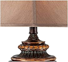 Traditional Table Corner Urn Barnes Ivy Lamp Open Iron Shade Cut Room and Bronze Square Family for Bedside Tan Living and Bedroom srthCQxd