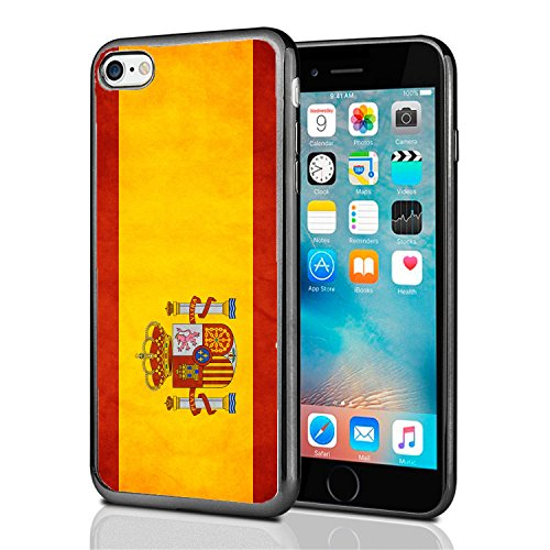 Spanish Case (Spain Spanish Grunge Flag For Iphone 7 (2016) & Iphone 8 (2017) Case Cover By Atomic Market)