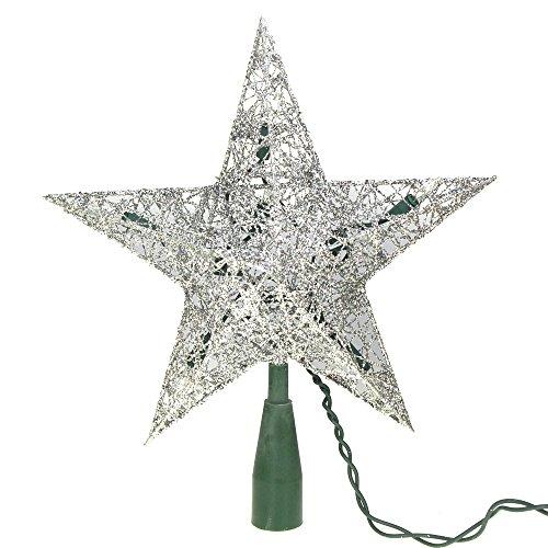 Homeford FKA000000UL0131S Star - Lámpara de Techo para árbol de Navidad, 22,86 cm, Color Plateado