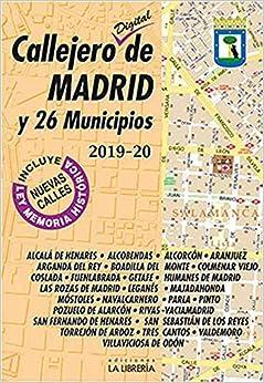 Callejero Digital De Madrid Y 26 Municipios 2019-2020 por Ediciones La Librería