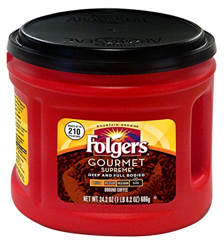 (Folgers Gourmet Supreme Ground Coffee, 24.2oz)