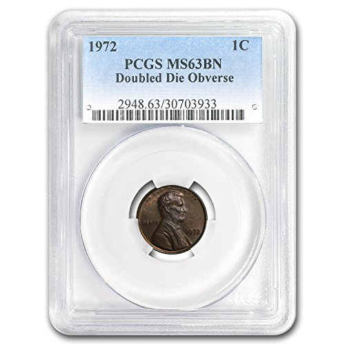 1972 Lincoln Cent Double Die Obverse MS-63 PCGS (Brown) Cent MS-63 PCGS