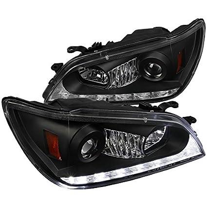 Spec-D Tuning 2LHP-IS30001JM-TM Lexus IS300 Black Projector Headlights+LED  DRL+Amber LED Signal Lamps