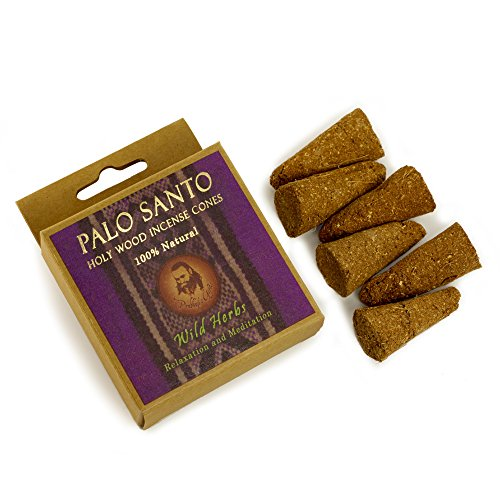 Wild Herb Incense - Palo Santo and Wild Herbs - Relaxation & Meditation - 6 Incense Cones