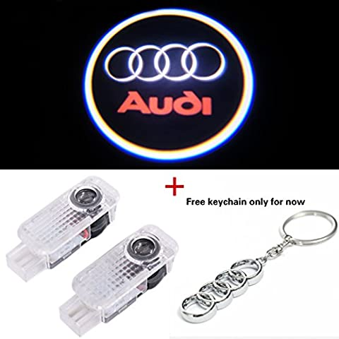 No Drill Easy Installation Car Door LED Logo Laser Projector Ghost Shadow Courtesy Step Lights for Audi A4 A3 A6 Q7 Q5 A1 A5 80 TT A8 Q3 A7 R8 RS 2pc By GADGETS - Audi A6 Light