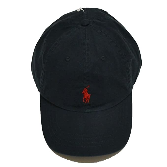 f1d7417d1a433 Polo Ralph Lauren Sports Pony Logo Hat Cap (One size RL Black)  Amazon.in   Clothing   Accessories
