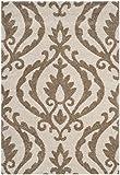 Safavieh Florida Shag Collection SG469-1113 Cream and Beige Area Rug (6′ x 9′)