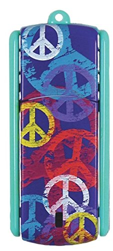 Ativa(R) Flip-Top USB Flash Drive With ReadyBoost(TM), 8GB, Peace Multicolor