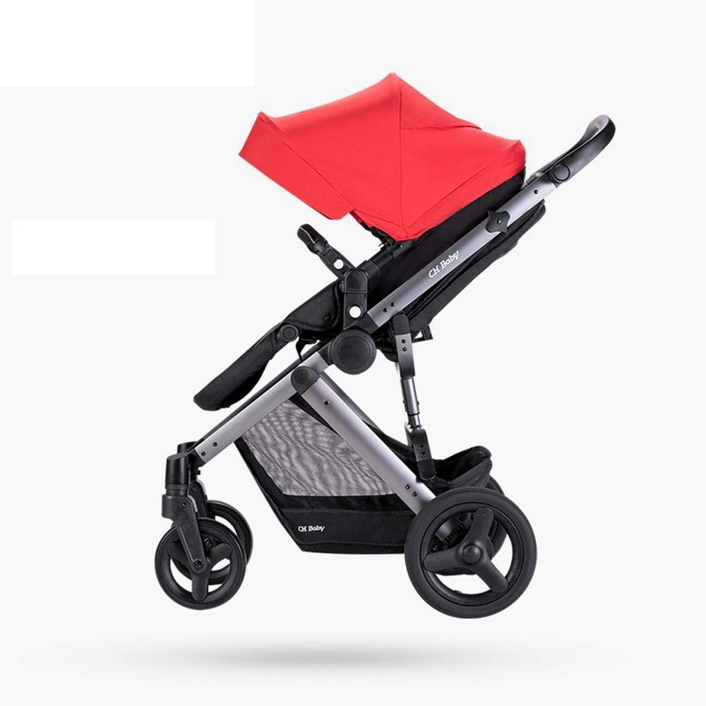 Littlefairy Baby Carriage,Stroller High-View Reclining Foldable Baby Trolley Connecting Rod Super Shock Absorber Trolley